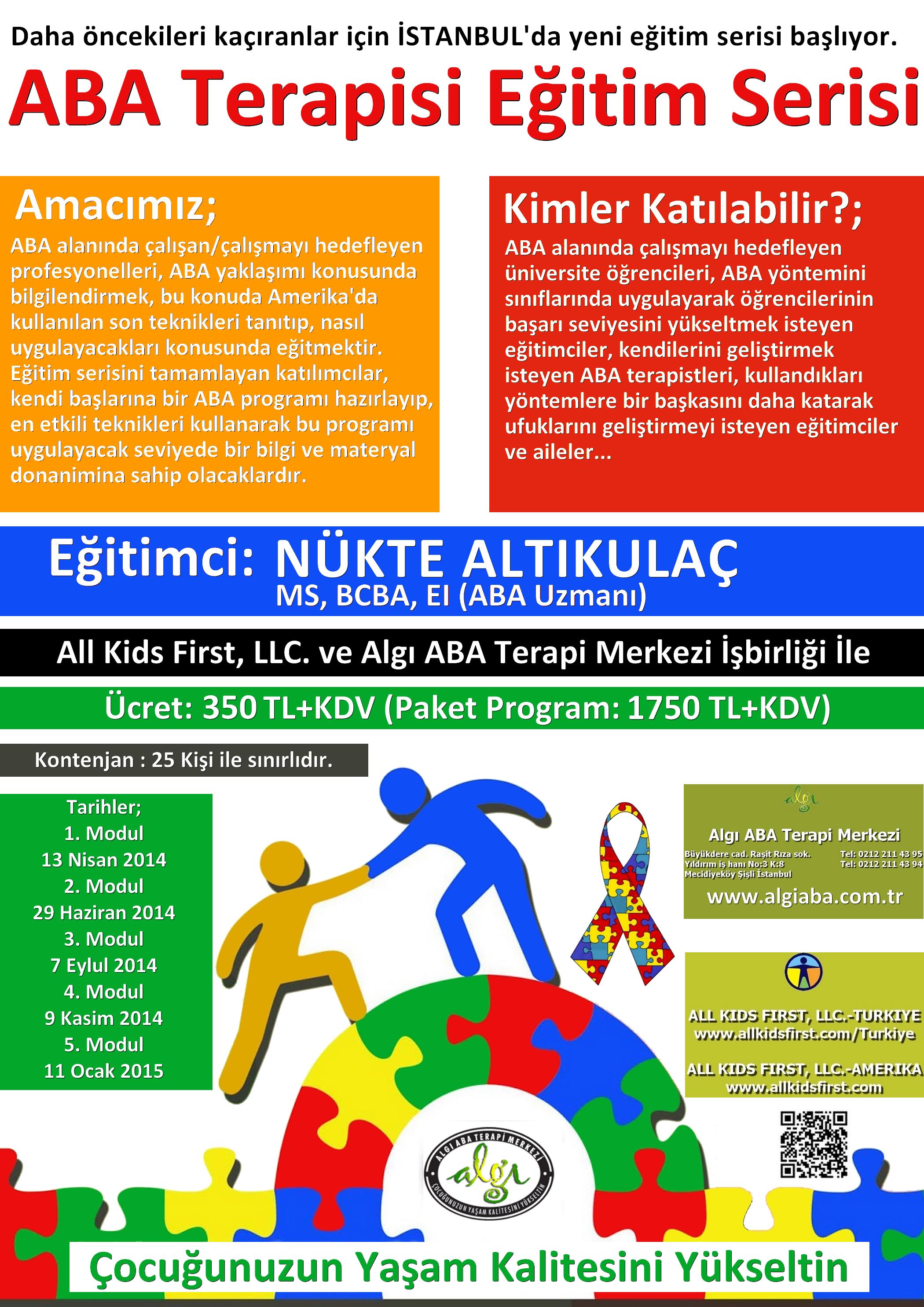 ABA Terapisi Eğitim Serisi 2014