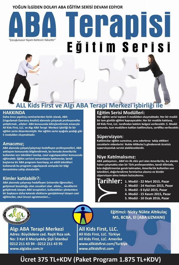 ABA Terapi Eğitim Serisi 2015 – 2016